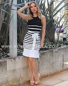 Vestido Tricot Modal Amarração Verão 2020- KW