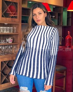 Blusa Tricot com Brilho Inverno 2020 - SK 1081