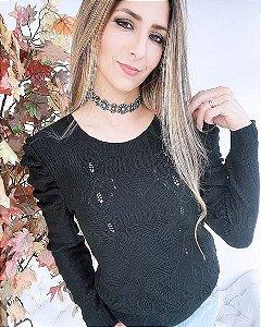 Blusa Tricot Princesa Corações Inverno 2021 -JN