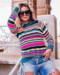 Blusa Tricot Colorida Inverno 2020- CV