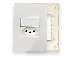 Kit Tomada e Interruptor - Linha Unno - ABB