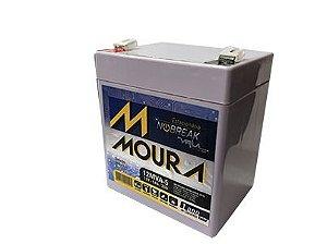 Bateria Estacionaria Selada Para Nobreak 12v 5ah Moura