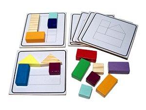 Construindo sequências (Blocos de madeira (67 peças)