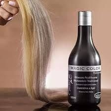 Magic Color Máscara Matizadora Platinum Blond 500ml - Intensificador queratina e açaí.