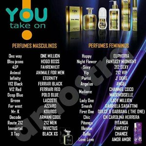 Perfumes masculino e feminino - 100ml