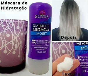 AUSSIE MÁSCARA 3 MINUTOS MIRACLE MOST - 3X MAIS HIDRATAÇÃO - 236ml
