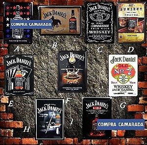 Jack Daniel's Quadros Placa Metal