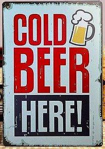 Cerveja Gelada Quadro Placa Metal