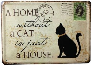 Cachorro Gato Animal Quadro Placa Metal
