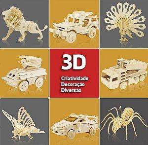Quebra-Cabeça 3D Madeira