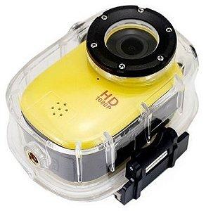 Mini Câmera FULL HD 1080p Prova d'água 30m 12mp Esportes SJ1000