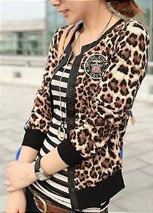 Casaco estampa Leopardo