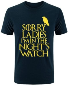 Camiseta Nights Watch Game Of Thrones
