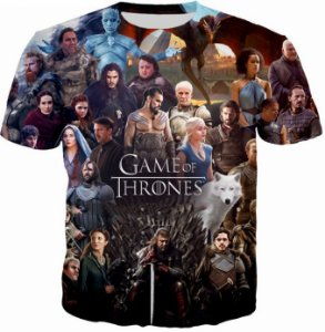 Camiseta 3D Game Of Thrones