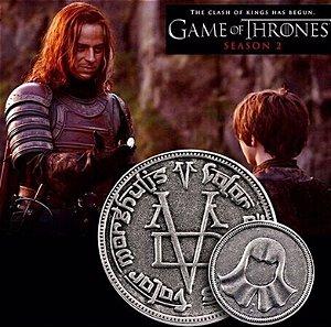 Moeda ou Chaveiro Valar Morghulis Game of Thrones