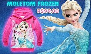 Moletom infantil Frozen Disney