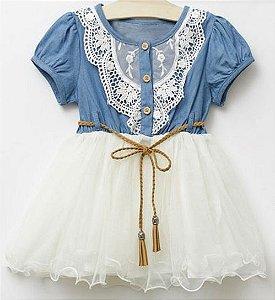 Vestido Infantil com Renda