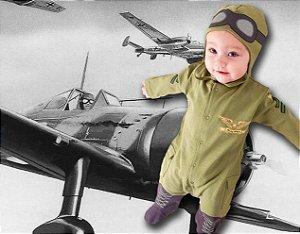 Macacão Infantil Aviador