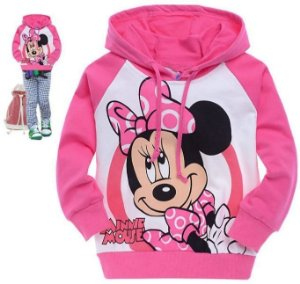 Moletom Infantil Minnie e Hello Kitty
