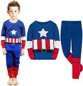 Pijama Infantil Super-Heróis