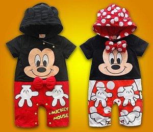 Macaquinho Infantil Mickey e Minnie