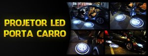 Projetor Led Marca Porta do Carro Portátil