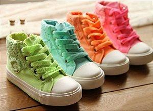 Tênis Infantil Jeans Colorido
