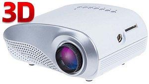 Projetor de Filmes 3D LCD 200 Lumens LED