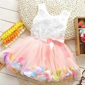 Vestido Infantil Floral Colorido