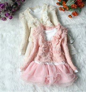 Vestido Infantil Floral Renda 2015