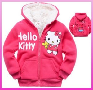 Casaco Peluciado Hello Kitty