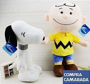 Pelúcia Charlie Brown & Snoopy