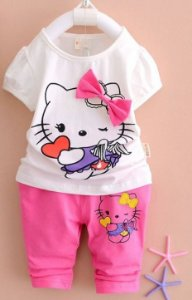 Conjunto Hello Kitty e Snoopy
