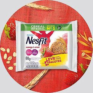 Biscoito Nesfit Morango e Cereais Sachê 88 grs