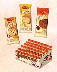 Mini bolo Santa Edwigers gotas de chocolate 48x30grs