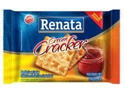 Biscoito Sachê Cream Cracker Renata 4 Biscoitos no sachê 22 grs
