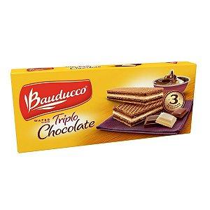 Biscoito Wafer Triplo Chocolate Bauducco 140g