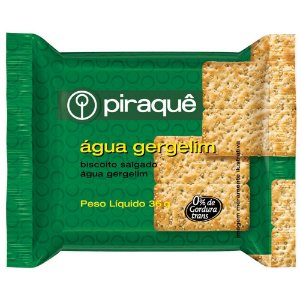 Biscoito Sachê Água Gergelim Piraquê