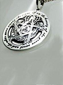 Pentagrama Wicca em Prata