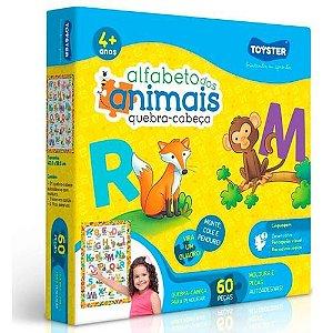 Quebra-Cabeça Alfabeto Animais 60 Peças