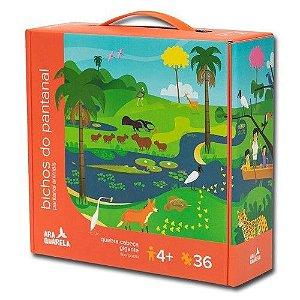 Quebra-Cabeça Gigante 36 Peças Bichos do Pantanal