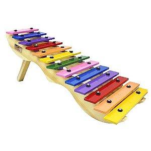 Metalofone Escada Colorido