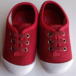 Tênis Infantil Babo Uabu Com Cadarço Elástico Vermelho