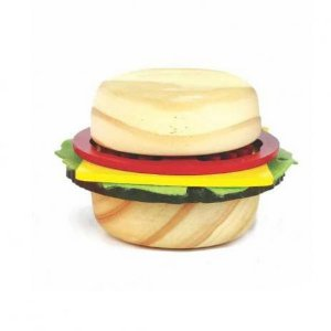 Sanduiche em madeira