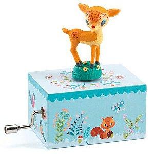 Mini Caixa de Música a Manivela Cervo no bosque - Djeco