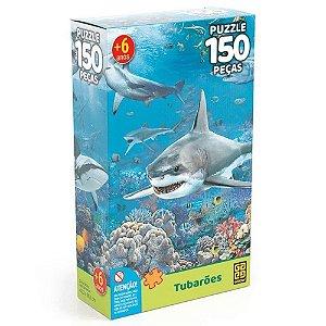Quebra-Cabeça 150 peças Tubarões