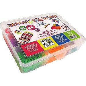 Caixa Organizadora com 600 Elásticos - Ez Bandz