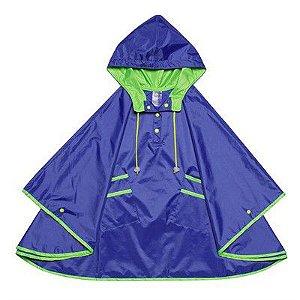 Capa de Chuva Kidsplash! Azul Neon