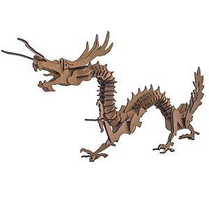 Quebra-Cabeça 3D Dragão Chinês 72 Peças