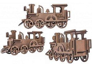 Quebra-Cabeça 3D Locomotiva 36 Peças